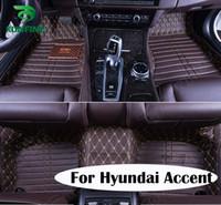 accent mats - Top Quality D Car Floor Mat For Hyundai Accent Foot Mat Car Foot Pad Colors Left Hand Driver Drop Shipping KF A2179