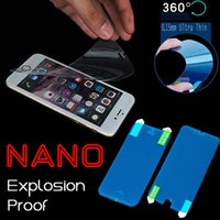 Wholesale Nano Anti Shock Soft Explosion Proof Screen Protector Protective Film Guard For iPhone Plus S S Samsung S7 S6 edge Note MOQ