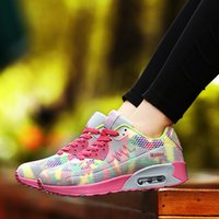 Wholesale The Spring and Autumn of The New Ladies Air Cushion Sports Shoes Ladies Comfortable Breathable Tourism Running Shoes