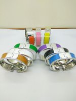 Wholesale 18mm silver Bracelet lady s colorful Bracelet K gold plated beautiful gift H