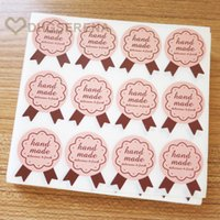 Wholesale 1200pcs Badge style hand made adhesive sticker Baking food decorative packaging label sealing paper stickers