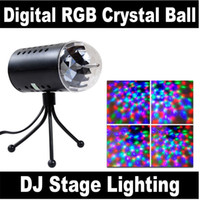 auto bulbs uk - New RGB W Crystal Magic Ball Laser Stage Lighting For Party Disco DJ Bar Bulb Lighting Show