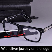 alloy rims black - Brand Glasses Chromehearts With Silver jewelry on the legs men glasses frame Box Lunch A eyeglasses myopia reading eyeewear oculos