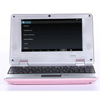Wholesale Hot sale inch Android Netbook Laptop Notebook Pad Tab with G G G VIA8880 WIFI HDMI Dual Core different colour