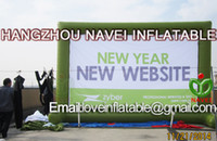 Wholesale Sale New m Inflatable Screen billboard for advertising screen can Removable