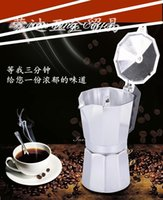 Wholesale High Quality Stainless Steel Coffee Pot Cups Alumnium Moka Pot Espresso Coffee Maker Coffee Tools Silver Color With Large Stock