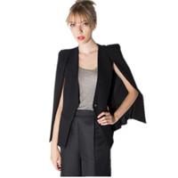 Wholesale Europe Blazer Cloak Cape Style Leisure Suit A Buckle Small Suit Jacket Suit Spring Women s Fashion Single Button Ladies Jacket Coat