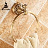 Wholesale New arrival Euro style wall mount antique bronze towel ring bathroom accessories bath towel holder bath hardware ST
