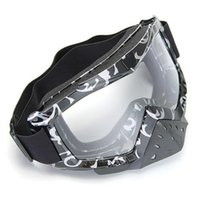 Wholesale Motorcycle Motocross Ski Glasses Goggle With Nose Guard Dark Gray Silver Print