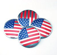american hub - 4pcs mm Emblem Badge Sticker Wheel Hub Caps Center Cover Flag USA American for FORD JCHEVROLET Jeep Hyundai