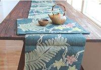 Wholesale hurds table flag Table Cloths Handmade cup mat Table Runner