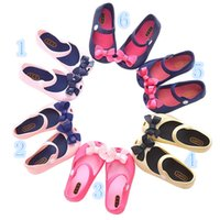 baby fragrance - ini Melissa rain Shoes For kids New Limited Strap Baby Rubber Cute Bow Sandals girl Bowtie Summer with Fragrance