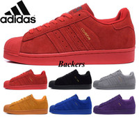 Wholesale Originals Adidas Superstar S City Warm Season Man s Women s Running Shoes Sneakers Man Casual Zapatos Women Classic Red Skate Size