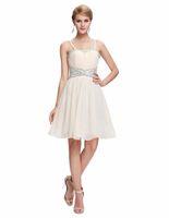 apricot cocktail dress - White Mini prom dresses Latest Designs Women Celebrity Apricot short prom dress Spaghetti Strap Backless cocktail dresses Banquet Party