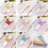 Wholesale set Butterfly Paper Napkin Rings for Wedding Party decoration Wedding Favors Colors