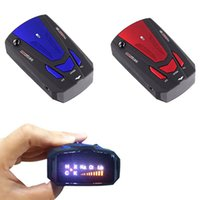 Wholesale Red Blue Degree Car Speed Radar Detector Voice Alert Detection Shaped Safety for Car GPS Laser LED