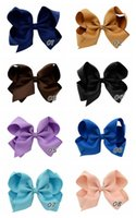 beautiful hair bows - 20Pcs Inch Children Ribbon Bow Hairpin Girl Bow With Clip Hair Bows Beautiful HuiLin BKY01