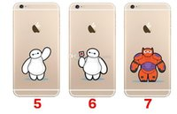 Wholesale Big hero baymax For iPhone inch plus Transparent Soft TPU Silicone cell phone cases Styles