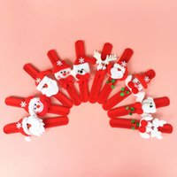 Wholesale Christmas Gifts Lint Pat Hand Ring Slap Clap Bracelet Patting Santa Claus Snowman Deer Designs Children Kids Toys Gifts Props SD021