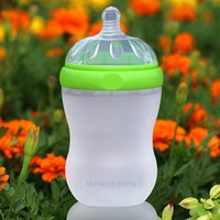 Wholesale Kumeng Baby Imported Medical Grade Silicone Extra Wide Neck Silicone Baby Water Bottle