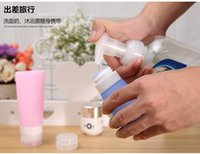 Wholesale 2016 cute square Empty Silicone Travel Packing Bottle Press Bottle for Lotion Shampoo Bath ML Ml