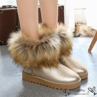 abkle boots - Size Women Winter Abkle Boots Fashion PU Leather Waterproof Non Slip Short Snow Boot Shoe Thick Plush Woman Ladies Shoes