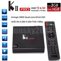 atsc tv box - Original KII Pro DVB S2 T2 Android Smart TV Box Amlogic S905 Quad Core G G Mini PC Wifi KODI UHD K H Media Player D Home Movie ATSC