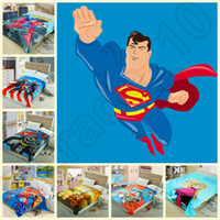 Wholesale 5PCS HHA784 flannel blankets color superman car princess blanket kt minions minnie batman blanket bedding sheet kid blanket