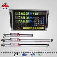 Wholesale new dro kit set gcs900 da digital readout and gcs898 micron mm linear scales encoder sensor for machines