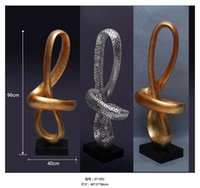 art furnishings decor - indoor decor Resin crafts ornaments creative abstract art gilded sculpture for home hotel clubs soft furnishings