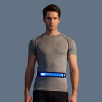 automatic safety belt - New brand led lights belts flashing waistband reflective strap for night running and riding safety sports