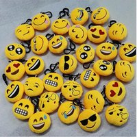 Wholesale 2016 New cm Emoji Poop Smiley QQ Expression Keychains Cute Cartoon Plush Pendant Car Keychains Styles