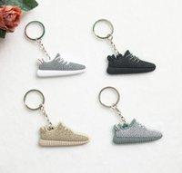 Wholesale Cute Silicone Yeezy Boost Keychain Sneaker Key Chain Kids Key Rings Key Holder Llaveros Chaveiro Porte Clef