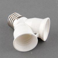Wholesale E27 Splitter Splite Fixture to E27 Dual E27 Base Socket LED Y Shape Light Adapter Hotel Shop New