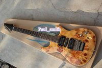 beautiful electric guitars - Hot sale I style logo Electric guitar beautiful tree wart top brown custom shop high quality bright red gold headcase