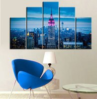 art gallery prints - Printed canvas home wall decoration home decoration art and other modern painting art gallery City neon landscape