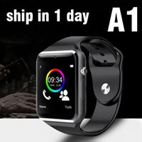 Wholesale Sim Supported Watch - A1 Smart Watch Bluetooth DZ09 U8 GT08 Smartwatch Apple iWatch Support SIM TF Card Smart Wrist Watches With Silicone Strap Smartphone OTH195