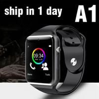 apple sim cards - A1 Smart Watch Bluetooth DZ09 U8 GT08 Smartwatch Apple iWatch Support SIM TF Card Smart Wrist Watches With Silicone Strap Smartphone OTH195