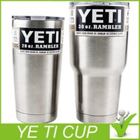 Wholesale Yeti oz Cups Cooler YETI Rambler Tumbler Travel Vehicle Beer Mug Double Wall Bilayer Vacuum Insulated Stainless Steel
