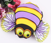 bee dog toy - 10PCS Bee Crinkle Squeaky Dog Toy Pet Toy For Dog Puppy Cotton Funny Stuffed Canvas Interactive Toy FAT CAT