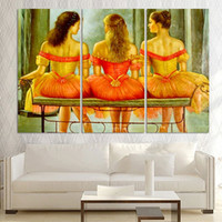 ballet picture frames - Ballet Dancer Canvas Oil Painting for Living Room Picture Modern Abstract Oil Painting printed On Canvas Wall Art No Frame