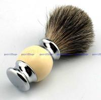 Wholesale Professional barber hair shaving Razor brushes New Wood Handle Badger Hair Shaving Brush Men Gift Barber Tool Mens Face Care
