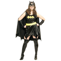 adult batman costume - Hot Sale Sexy Black Batman Costume Adult Batgirl Halloween Costumes for Women Sexy Superhero Cosplay Mask Cape Outfits W36853