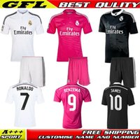 Wholesale 2014 Real Madrid Ronaldo Jersey La Liga Sergio Ramos Benzema Bale Kroos James Real Madrid shirt camisetas de futbol