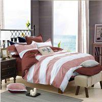 bedding for men comforter sets - 4 Bed set Bedding sets Warm Winter Simple stripe plaid Home textile for school men boy Child Duvet cover Bedsheet Pillowcase