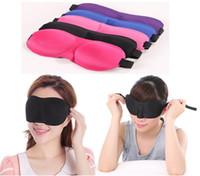 Wholesale Nylon Polyester Fiber Milk Silk Senior Shade Sponge Cover Blinder Blindfold Sleeping Comfort Rest D Eye Mask