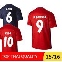 Wholesale 2015 KOKE GRIEZMANN GABI ARDA SIMEONE home away thai quality soccer jersey KOKE GRIEZMANN GABI ARDA dootball shirt