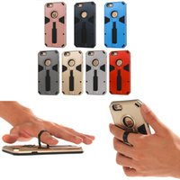 Wholesale Cool Design Hard PC TPU Stand Holder Case Cover For iPhone plus s plus