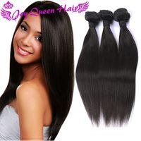 Wholesale Cheap Brazilian Human hair Extension Peruvian Indian Malaysian Combodian Straight hair weaves Unprocessed hair bundles double Machine Wefts