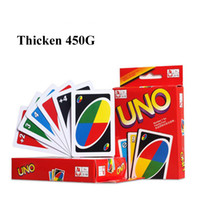 bar board games - Popular G Thicken UNO Card Game Standard Edition Family Bar Cafe Fun Entermainment Game Card Kids Funny Puzzle Game UNO Card Board Games